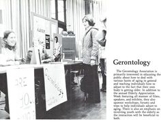 Gerontology Association at the UO 1977-78.  From the 1978 Oregana (University of Oregon yearbook). www.CampusAttic.com