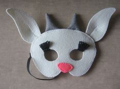 DIY felt goat mask