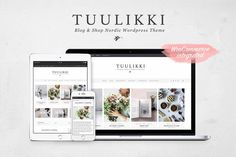 WordPress blog and shop theme with a clean, feminine design #ad