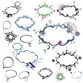 Sketches of clouds and bubbles