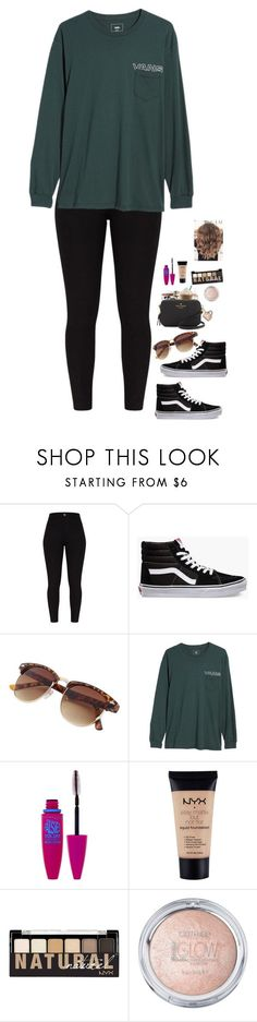 """hanging out w/ bestie!!!"" by totallyelizabeth ❤ liked on Polyvore featuring Vans, Maybelline, NYX, besties and BestFriends #schooloutfits"