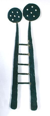 Ladder for two. Like this as the artist uses steel rather than the silver and gold that are normally used in jewellery