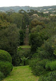 Le Domaine du Rayol en avril - Le grand escalier