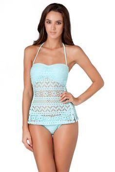 Amazon.com: Robin Piccone Penelope Molded Bandeau Tankini Top: Robin Piccone: Clothing