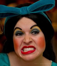 Ugly Stepsister make up, glued on eyebrows, love it with the fashion that we have right now. Cinderella Makeup, Cinderella Stepsisters, Cinderella Play, Cinderella Costume, Disney Makeup, Prom Makeup, Hair Makeup, Wig Hairstyles, Wedding Hairstyles