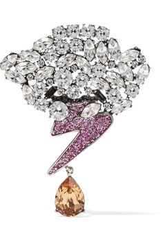 Marc Jacobs silver-tone crystal brooch