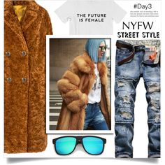 NYFW Street Style: Day Three by dolly-valkyrie on Polyvore featuring moda, GetTheLook, StreetStyle and NYFW