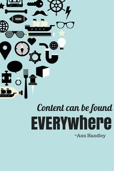 #Content advice from Ann Handley: you need to keep an open mind and be ready to turn anything you come across into content. #TechPR3345