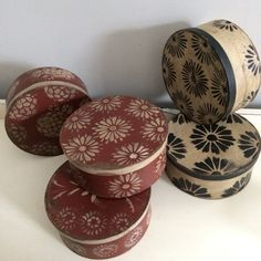 Hand made paper mâché boxes ! Creative storage for all homes . Sold on etsy from the Hanway Mill House