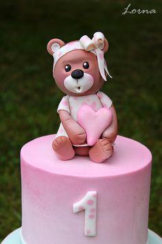Teddy Bear for little girl by Lorna