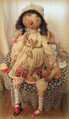 Леналена Лена - нет названия...... | OK.RU Amish Dolls, Primitive Doll Patterns, Raggedy Ann And Andy, Diy Doll, Fabric Dolls, Handmade Art, Doll Toys, Art Dolls, Doll Clothes