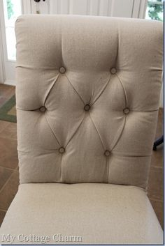 How to diamond tuft while reupholstering a chair