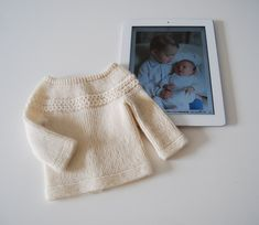 Baby Princess Charlotte Sweater  Knitting Instructions PDF