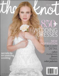 The Knot bride magazine Wedding dresses Cakes Invitations Flowers Color palettes