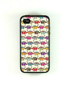 Cute Elephant pattern iphone 4 case by fundakcases