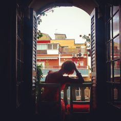 Daydreaming. Barcelona, Spain. August 2015.