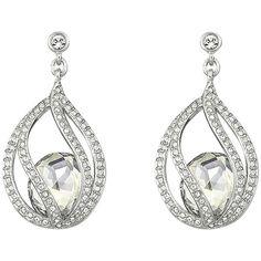 Pre-owned Swarovski Megan Pierced Earrings (€92) ❤ liked on Polyvore featuring jewelry, earrings, accessories, none, swarovski jewellery, preowned jewelry, pave earrings, swarovski jewelry y earrings jewelry