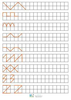 Graph Paper Drawings, Graph Paper Art, Grade R Worksheets, Maternelle Grande Section, Notebook Drawing, Form Drawing, Montessori Education, Pre Writing, Kids Learning Activities