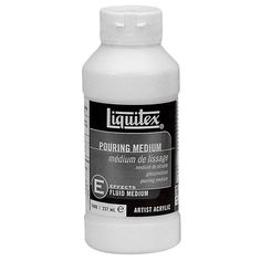 Purchase the Liquitex® Pouring Medium at Michaels. Formulated to create a smooth, seamless body of paint, this medium creates even puddles, poured sheets and flowing applications of color without crazing, cracking or holding bubbles. Oil Painting Supplies, Art Supplies, Matte Medium, Liquitex, Fluid Acrylics, Acrylic Sheets, Michael Store, Acrylic Pouring, Acrylic Colors
