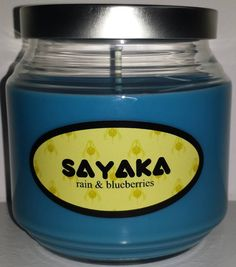 Sayaka Miki inspired candle from the anime Puella Magi Madoka Magica.