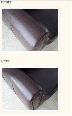 How to Remove Scratches from Leather. good to know!