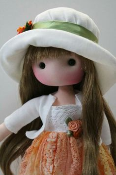 Fidelina Pretty Dolls, Cute Dolls, Beautiful Dolls, Doll Tutorial, Sewing Dolls, All Things Cute, Fabric Dolls, Rag Dolls, Diy Clay