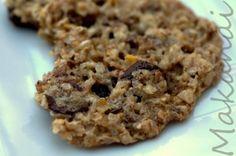 Cookies avoine-chocolat, bien craquant, à la farine de flocons d'avoine.