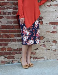 Cora Navy Floral Skirt – The Modest Poppy