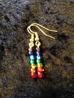 Sparkle Rainbow/Chakra Earrings by CraftyOlBats on Etsy