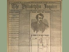 FATHER: History_Pics ClassicPics Front page of The Philadelphia Inquirer after the assasissination of Abraham Lincoln. April 17, 1865 pic.twitter.com/EoFhZRkhxM