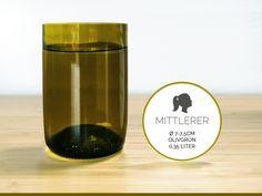 MITTLERER / Ø 7-7,5CM / OLIVGRÜN (Glas / Becher) von GLÄSERNE TRANSPARENZ auf DaWanda.com