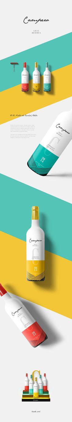 CAMPERO Wine packaging by Marie Sau
