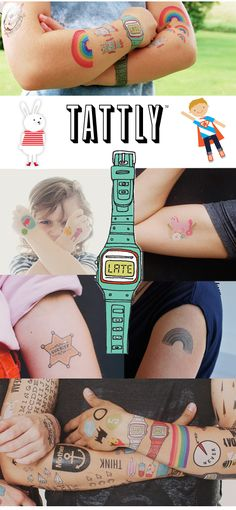 Tattly: Colourful & Creative Temporary Tattoos For Kids