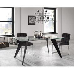 Mesa con pies de acero y cristal templado.  #elegancia #ciamohome