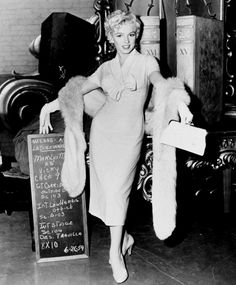 """""""Marilyn Monroe in a costume test for There's No Business Like Show Business. """""""