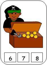 Pirate Treasure Count Cards    P