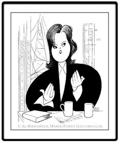 "Rosie O'Donnell: Hand signed by Al Hirschfeld  Limited-Edition Lithograph  Edition Size: 100.  20"" x 18"""