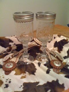 Redneck Wine Glasses...made these for our Christmas Party at work...they were a hit!