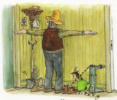 Pettson and Findus by Sven Nordqvist. Cute Cartoon, Cartoon Art, Trolls, Nordic Art, Comic Drawing, Here Kitty Kitty, Typography Prints, Photo Postcards, Cat Art