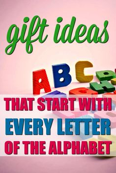 Here's how to host an Alphabet Grab Bag Gift Exchange, complete with the ultimate list of gifts that start with the letter __. Ideas for every letter! Secret Santa Themes, Secret Santa Gifts, Holiday Gifts, Christmas Gifts, Christmas Ideas, Christmas Quotes, Holiday Fun, Merry Christmas, Christmas Gift Exchange Themes