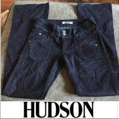 Hudson Jeans Signature Bootcut Jeans Hudson Jeans Signature Bootcut Jeans. Cut A00201. Style W180DFZ. New with tags. No flaws or stains. 33 inch inseam. Rise 7.5 inches. Lowrise. Feel free to make an offer. Hudson Jeans Jeans Boot Cut