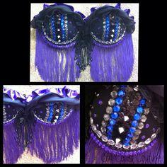 Dark Goth Jewels & Fringe Bra by Cali Coast Couture. To order contact calicoastcouture@gmail.com