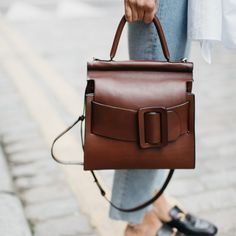 Defined by a signature oversized buckle, Boyy's luxury leather totes are new to NET-A-PORTER.
