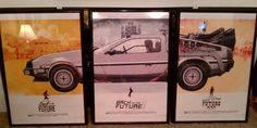 DeLorean - OK, whoever has those movie posters I am definitely jealous!!!! That's awesome!!!
