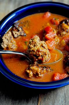 Meatball Soup Recipe ~ Delicious, Hearty and satisfying!