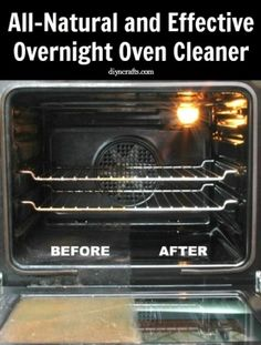 This homemade oven cleaner recipe is not only effective, it's completely natural. Most of the ingredients are probably already in your cabinets and if not, they are really easy to find and inexpensive. You will need a cup of water, 10 drops of essential oils of your choice (lemon or orange are good ones) ½ cup of regular salt, 1 and ¼ cup of baking soda, ¼ cup of white vinegar and 2 teaspoons of liquid castile soap by fsdsfds