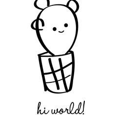 Este baby cactus es un dibujín que hice hace tiempo, y que acompañaba a una notita con palabras de agradecimiento. Me gusta tanto que estaba pensando en usarlo para una postal o lámina... Qué os parece? Os parece mono para decorar la habitación de los peques?