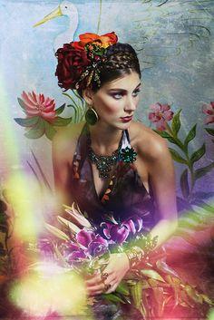 Frida Kahlo Inspiration ~~ For more:  - ✯ http://www.pinterest.com/PinFantasy/arte-~-pintura-frida-kahlo-diego-rivera/