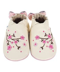 Loving this Natural Cherry Blossom Leather Bootie on #zulily! #zulilyfinds