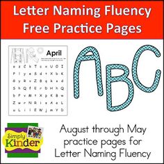 Simply Kinder: Letter Naming and Nonsense Words Fluency Pages Preschool Literacy, Teaching Kindergarten, Literacy Centers, Literacy Skills, Teaching Ideas, Fluency Practice, Writing Prompts For Kids, Kids Writing, Common Core Curriculum